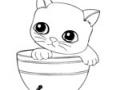 Раскраска для девочек котята онлайн - 4